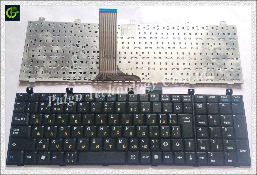 Russian Keyboard for MSI A5000 A6100 A7005 CR500 CR500X CR610 CR700 CX605 CX700 RU Black Laptop keyboard