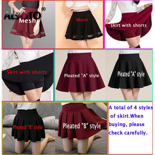 ALSOTO Summer Women Skirt Sexy Saia Short Skater Skirts for Ladies Black Pleated Tutu School Skirt Fashion Faldas Jupe Ball Gown