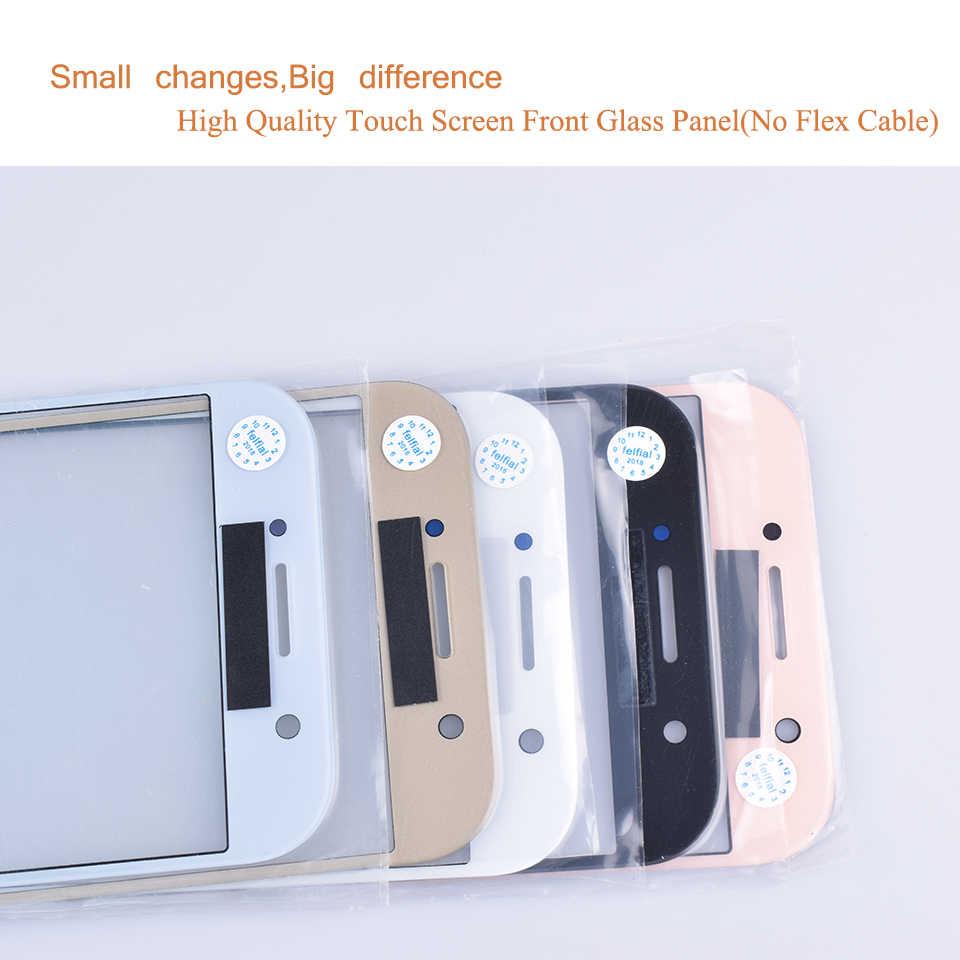 עבור סמסונג גלקסי A5 2017 A520 A520F SM-A520F SM-A520F/DS מגע מסך קדמי זכוכית פנל A5 2017 SM A520 מסך מגע חיצוני עדשה