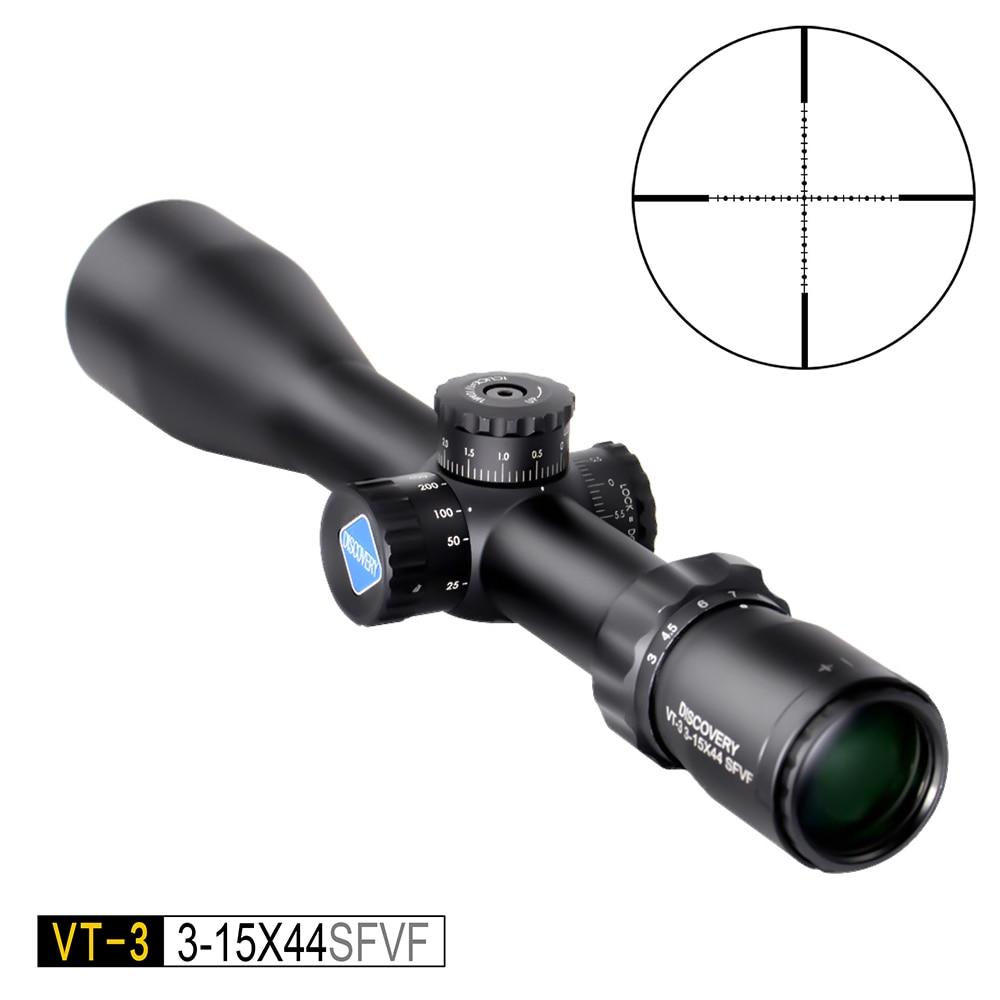 Découverte VT-3 3-15X44 SFVF côté en se concentrant tactique Optique Chasse Tir lunette de visé optique vue Riflescopefit 30-06 308