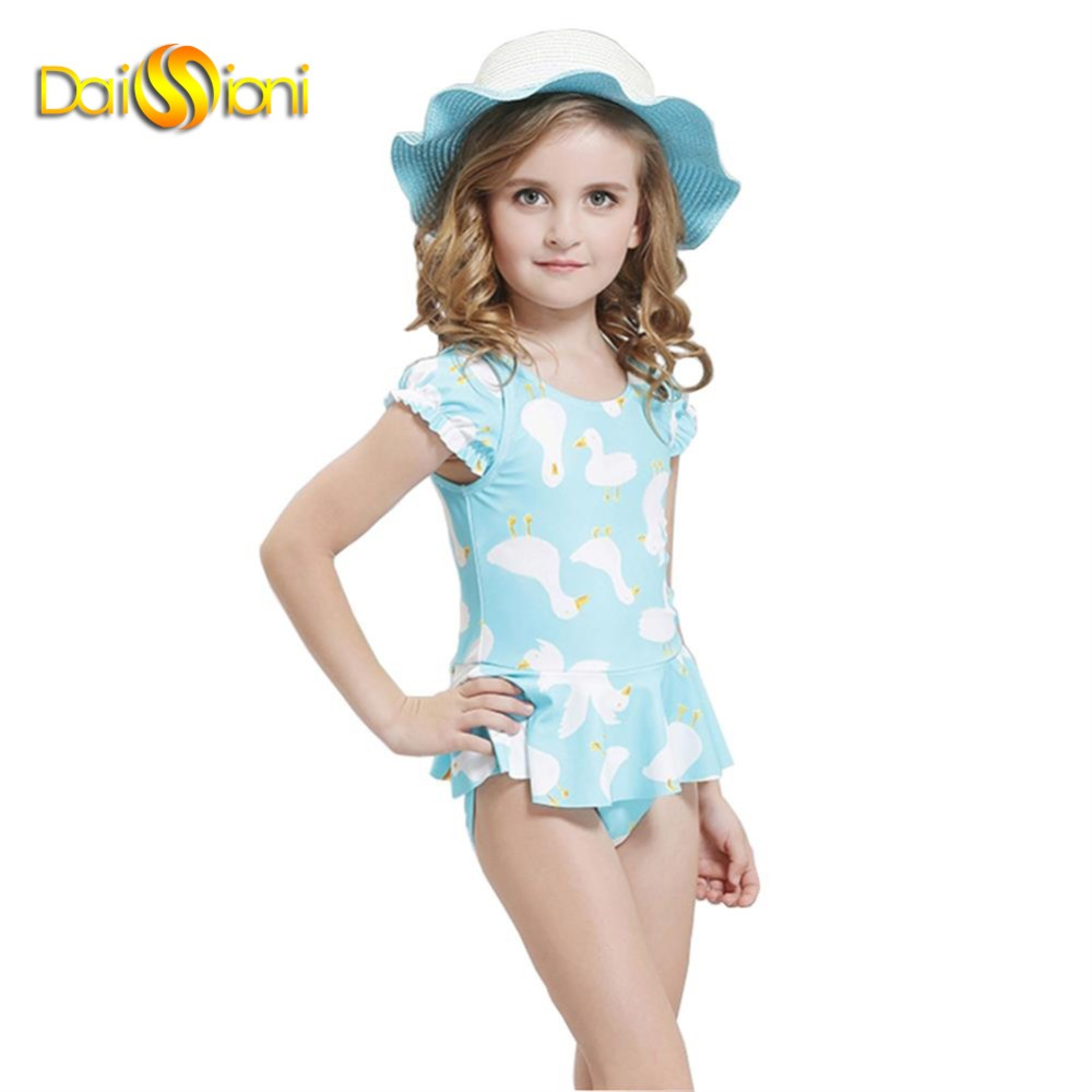 Popular Swimwear One Piece Skirt for Kids Girls-Buy Cheap ...