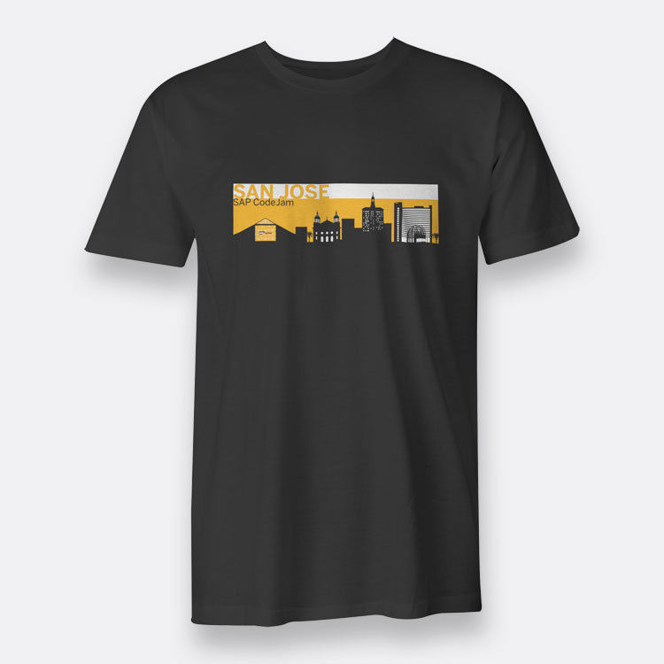 SAP CodeJam San Jose Black T-shirt Mens Funny T Shirt Men ...