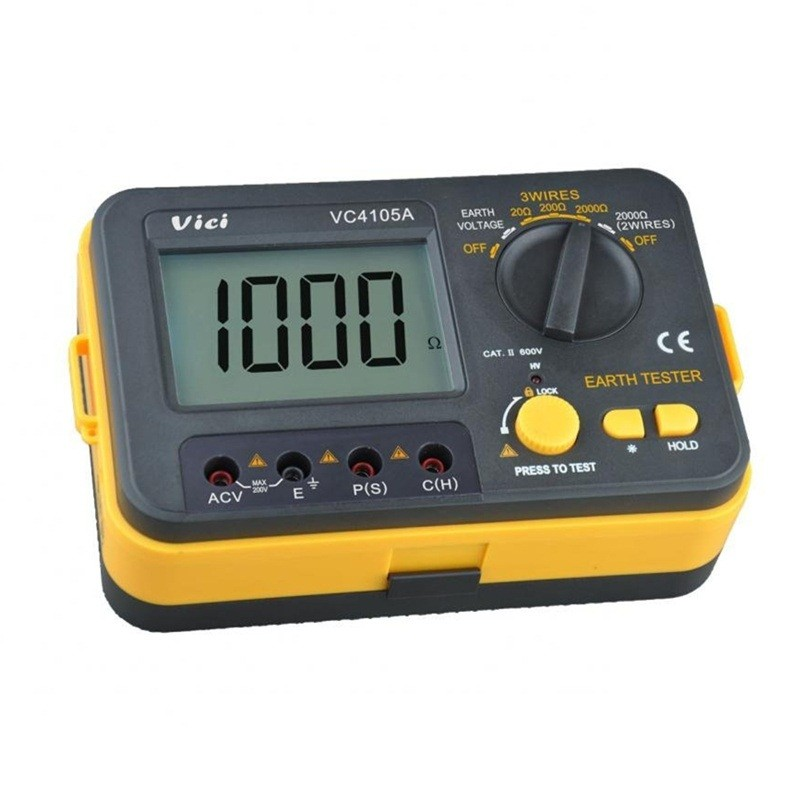 VICHY VC4105A LCD Digital multimeter multimetro diagnostic-tool tester Earth Ground Resistance/Voltage Tester Meter ms2108 hyelec digital clamp meter w backlight earth ground unit megohmmeter resistance earth tester multimeter multimetro