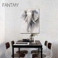 Fantmy бескаркасных живопись по номерам DIY Цифровая живопись маслом на холсте Home Decor Wall Art Абстрактная живопись маслом слон