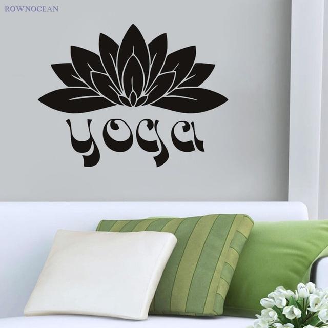 Benutzerdefinierte farbe wandaufkleber steuern dekor yoga lotus ...