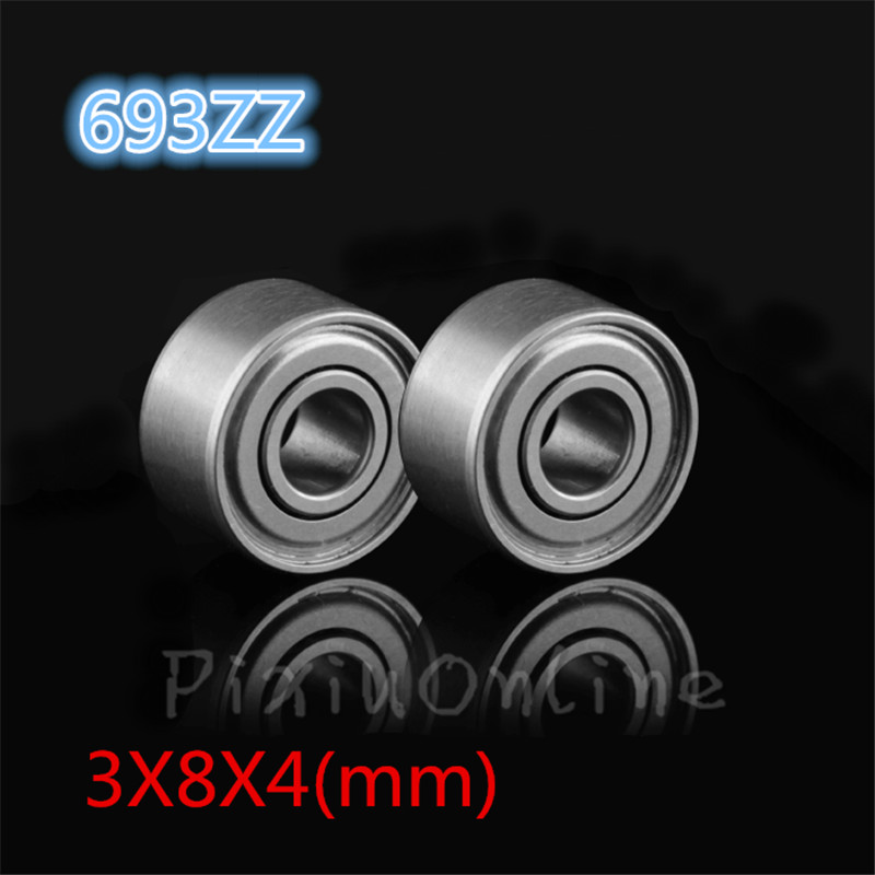 10PCS ST023b Bearing 693ZZ R-830ZZ 619 3X8X4mm Deep Groove ball Miniature small ball bearings Steel Sell At A Loss best price 10 pcs 6901 2rs deep groove ball bearing bearing steel 12x24x6 mm