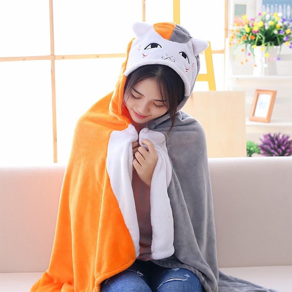 Chinchilla cloak lazy blanket shawl siesta cloak office cartoon air conditioning blanket to keep warm