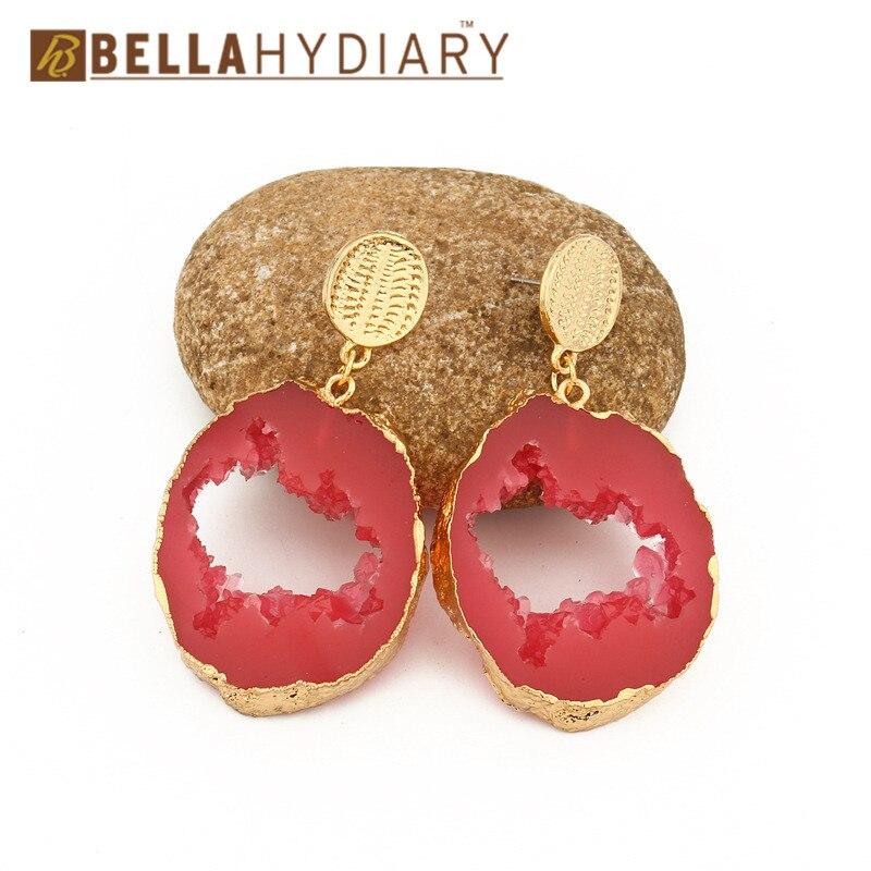 Druzy earrings resin earrings jewelry Ohrringe bijoux earings earring earing pendientes brinco big earrings vintage jewelry wedding earrings geometric earrings long earrings gifts for women (6)