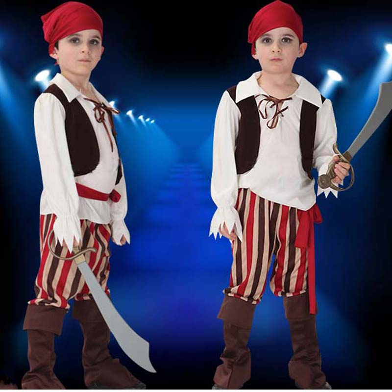 Балалар Boy Girl Pirates Cosplay костюм Fancy Dress - Костюмдер - фото 4