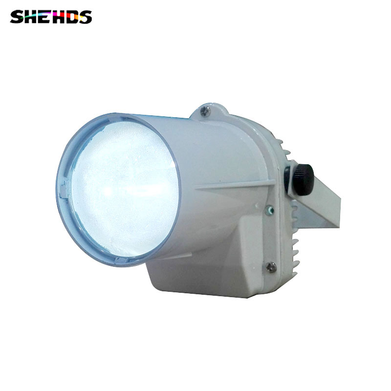 Fast Shipping White Body LED Spotlight 6W Red/Green/Blue/White/Ultraiolet Color Lighting Led Pinspot Light For Event Party