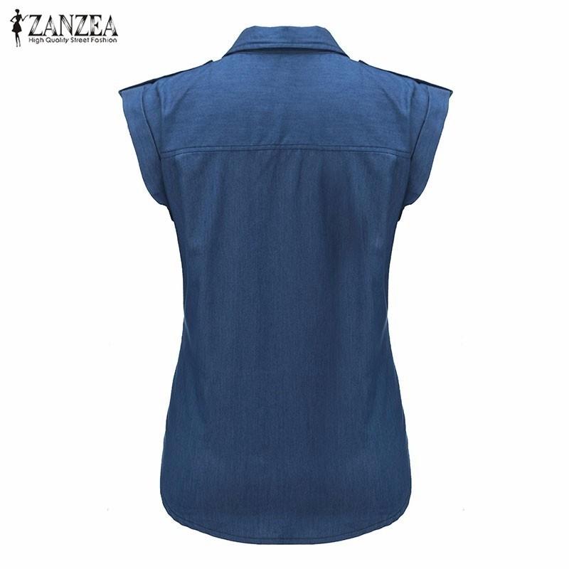 HTB19htGNXXXXXaiapXXq6xXFXXXF - Blouses Sexy Sleeveless Jeans Denim Blue Shirts Female Casual