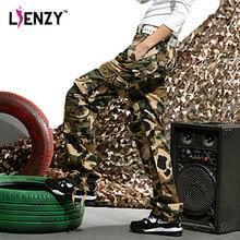 LIENZY Spring Camouflage Khaki Cargo Pants Women Hip Hop Casual Trousers Loose Pantalon Femme Overalls Slanting Pocket
