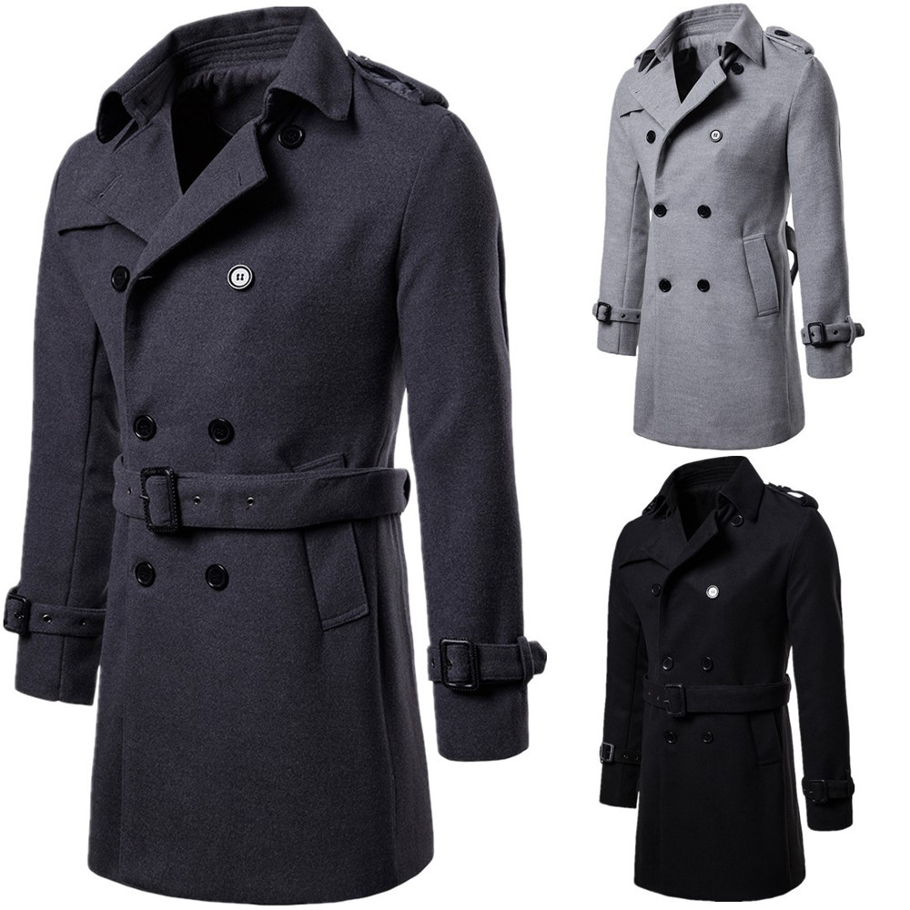 Cosplay autumn new large size men's clothing Europe and the United States long section woolen coat European code windbreaker