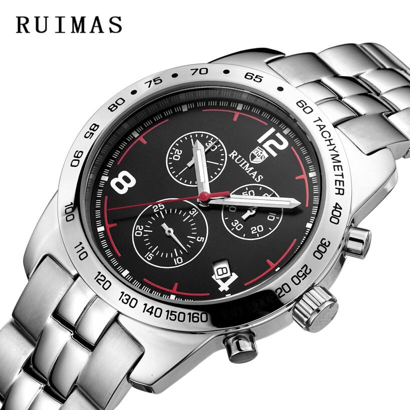 RUIMAS Quartz Watch Armbåndsure Brand Black Men High Quality Watches - Mænds ure - Foto 1