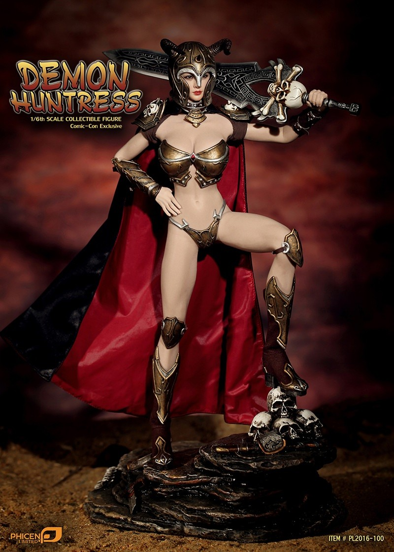 "PHICEN PL2016-100 1//6 Scale Female Demon Huntress Boots Model for 12/"" Figure"