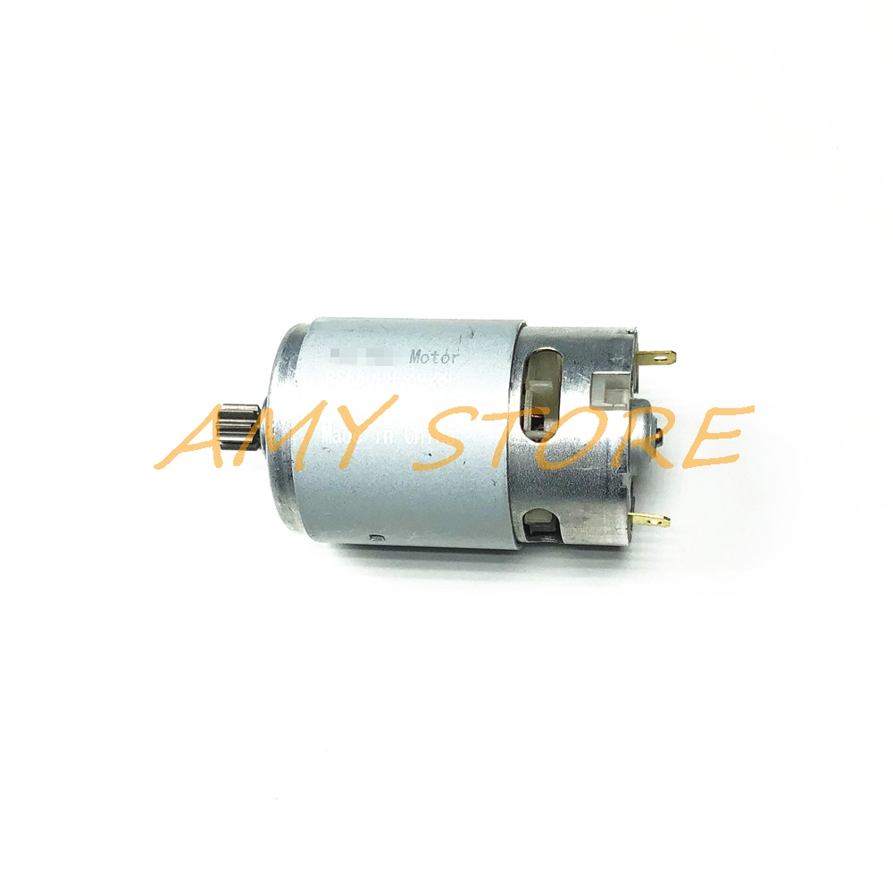 RS550 мотор 17 14 15 11 12 зубов 9 зубов 7,2 9,6 10,8 12V 14,4 V 16,8 18V 21 25VGear 3 дюймов для беспроводной зарядки дрель электрическая отвертка