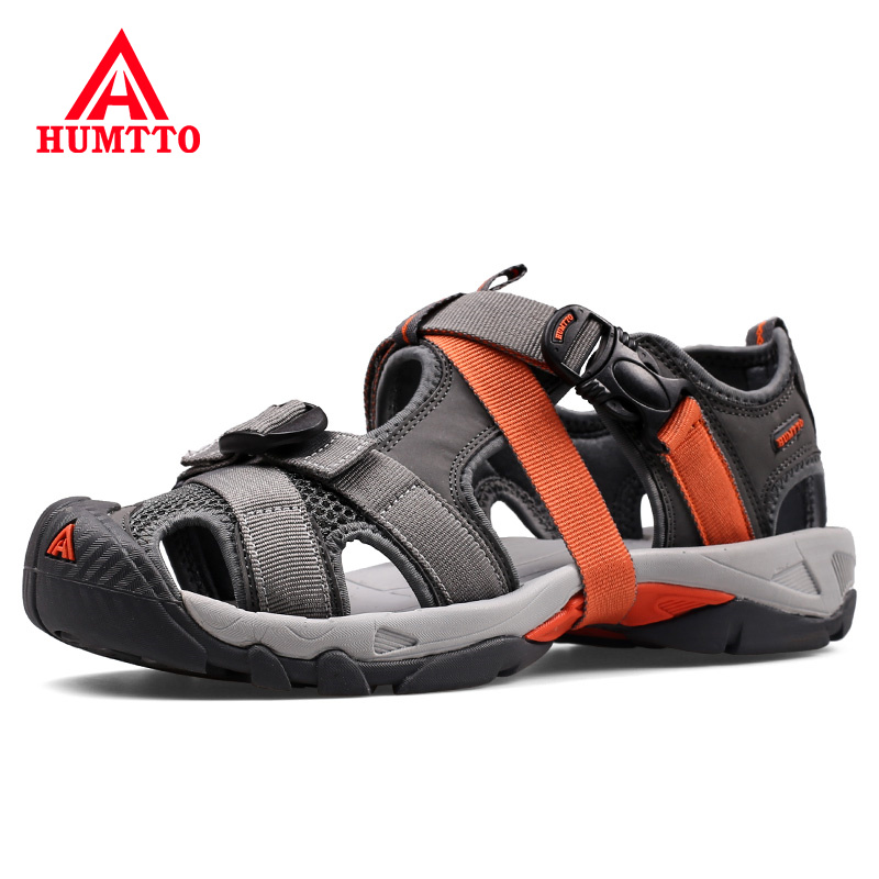 Brand Sandals Men 2019 New Mens Casual Outdoor Non slip Wear resistant Breathable Mesh Skynet Lightweight Mens Summer Shoes|Men's Sandals|   - title=