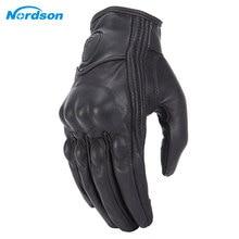 Nordson, ретро мотоциклетные перчатки, кожаные, зимние, полный палец, водонепроницаемые, для мужчин и женщин, перчатки для мотокросса, защитные шестерни, мото перчатки