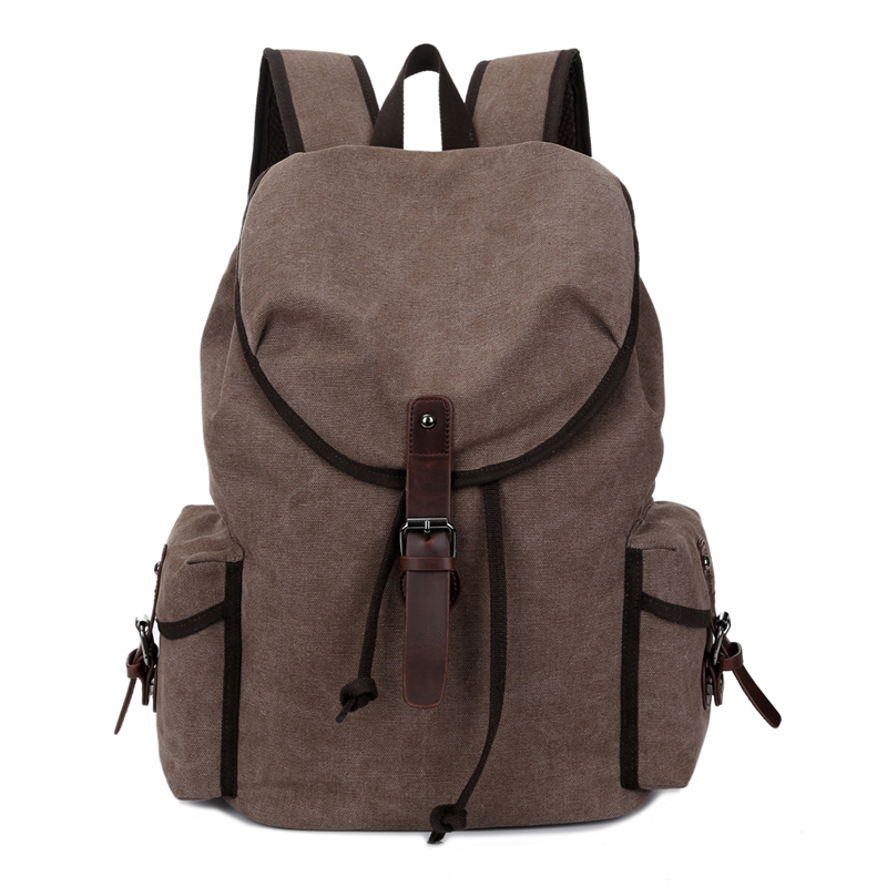 Large Capacity Casual Drawstring Backpack Canvas Men Travel Backpack Vintage Student School Bags For Teenage Boys Rucksack 1327 canvas backpack women for teenage boys school backpack male