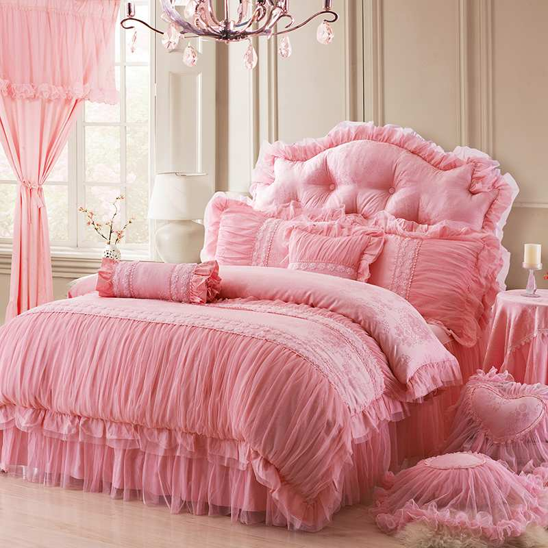 luxury comforter sets uk cotton queen princess lace flower font bedding baby