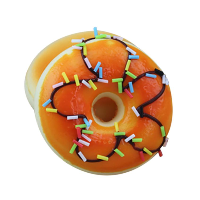 Squishy Squeeze Stress Reliever Soft Colourful Doughnut Scented Slow Rising Toys Popular Attractive Wholesale & Retail Newest