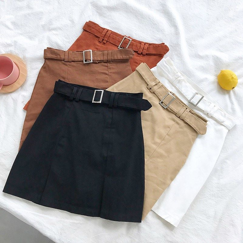 Solid Basic Slim Ladies Spring Autumn Mini Short Bandage Skirt Women Falda Casual High Waist Bodycon Office OL Elegant Skirts