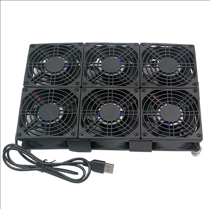 USB DC 5V Cooling 80mm 80 80 25mm Fan WIFI Router Support Radiator Mobile phone Bracket