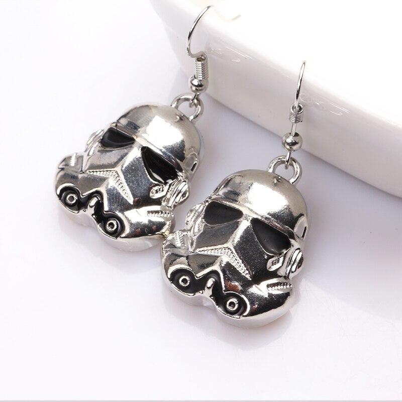 2017 New Star Wars Silver Earrings for Women Movie Jewelry