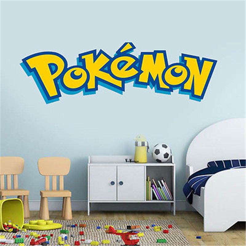 Removable Pokemon Words Decal Mural Art Kids Bedroom Decor Wall Sticker Pvc Diy China