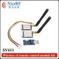 2 unids/lote 868 MHz RS485 Interface100mW GFSK Módulo SV611 Inalámbrica con 2 unids Antena De Goma y 1 unid Puente USB boad