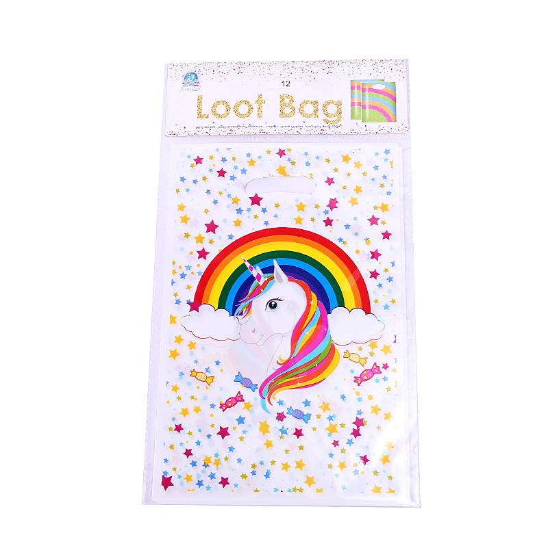 10PCS Lot Wholesale Unicorn Theme Gift Bag Party Decoration Baby Happy Birthday Evening Supplies Wedding For Kids