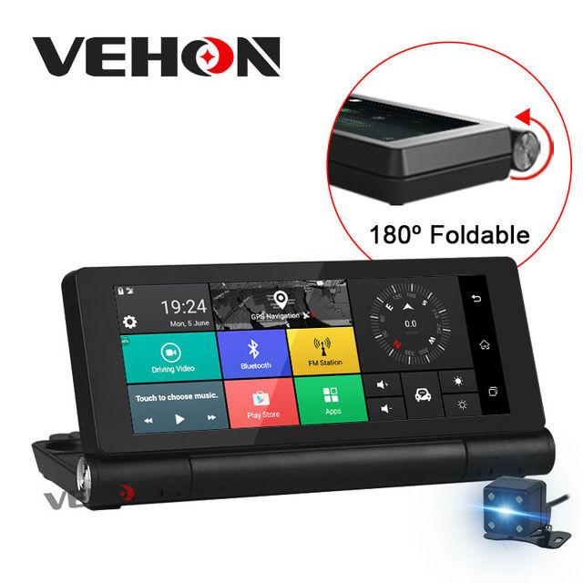"""VEHON 6.86 """"4G À Distance Moniteur De Voiture DVR Caméra GPS Navigation Bluetooth 16 GB 1G Android 5.0 Double Lentille Enregistreur Vidéo Dash Cam WIFI"""
