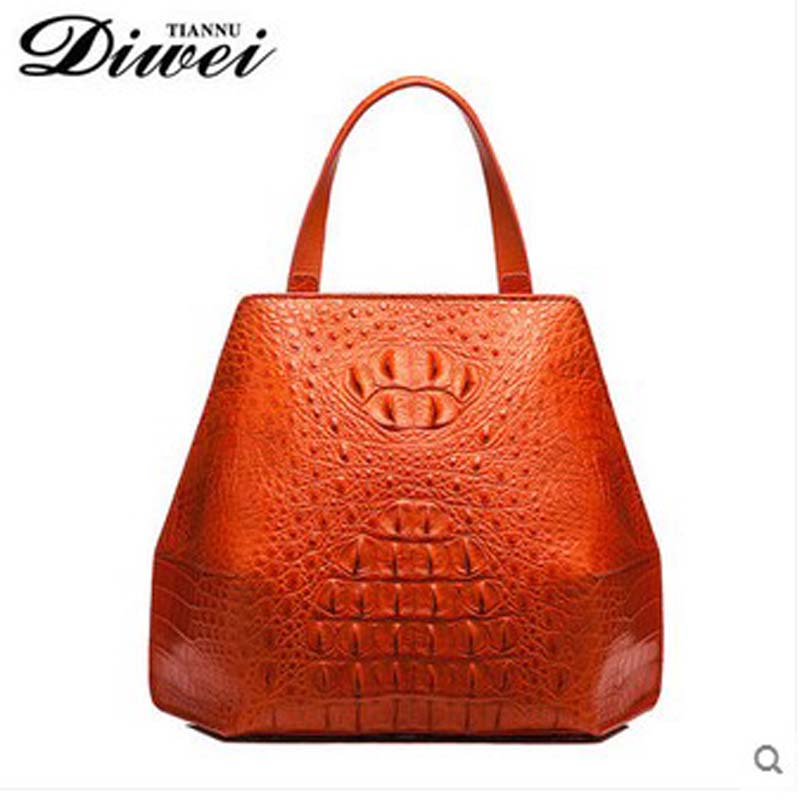 diwei 2018 new hot free shipping real crocodile women handbag  casual hand bag lady handbags quality goods yuanyu 2018 new hot free shipping real thai crocodile women handbag female bag lady one shoulder women bag female bag