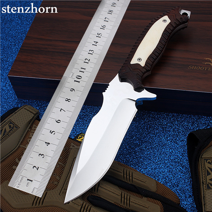Stenzhorn 2017 New Real Tactical Knife Camping with Straight Cutting Self-defense Wilderness Survival Mountain Hardness Red Bone high quality army survival knife high hardness wilderness knives essential self defense camping knife hunting outdoor tools edc