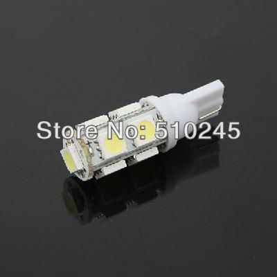 500x Free shipping Car Auto LED T10 194 W5W 9 led smd 5050 Wedge LED Light Bulb Lamp 9SMD White/Green/Blue/Red/Yellow