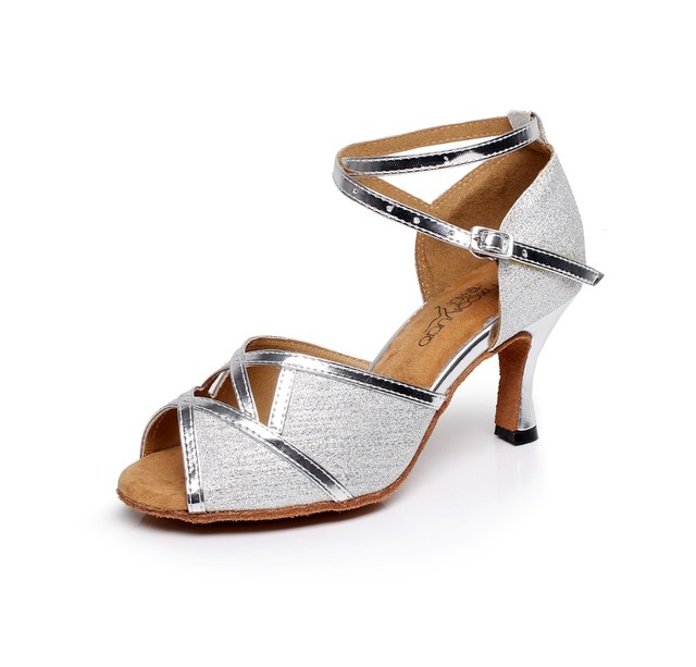 71490ba8 Mujeres salón de baile zapatos de baile latino partido y boda Tango zapatos  Salsa de plata