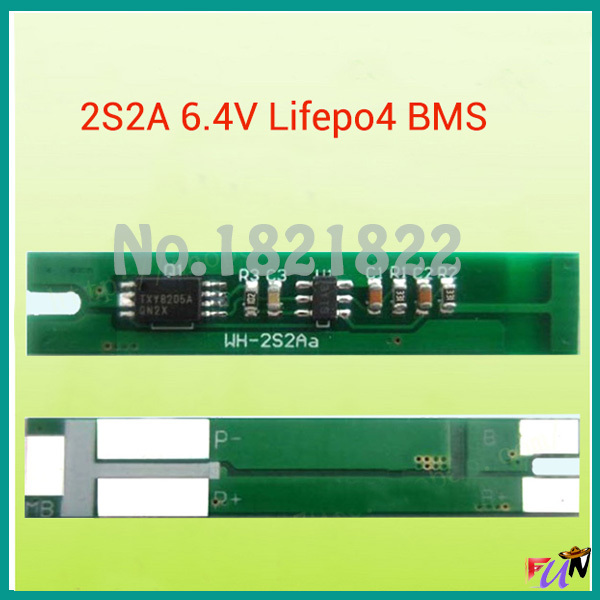 2 S 2A lifepo4 BMS 6,4 В 18650 BMS PCM защиты аккумулятора доска bms pcm для lifepo4 батарея пакет