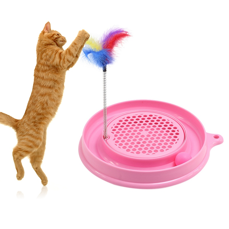 Multifunctional Disk Cat Toys Activity Interactive Handmade Cats Kitten Scratcher Training Interactive Cat Play Ball Toys