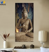 Framed 1 Piece painting Free shipping buddha art canvas Wall art buddha Picture landscape Modern living room Decorative FX019