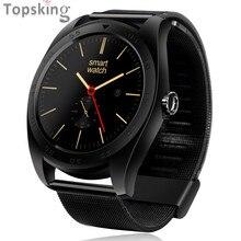 2017 nuevos relojes inteligentes k89 ronda bluetooth smartwatch para android teléfono y iso usable dispositivos iphone con monitor de ritmo cardíaco