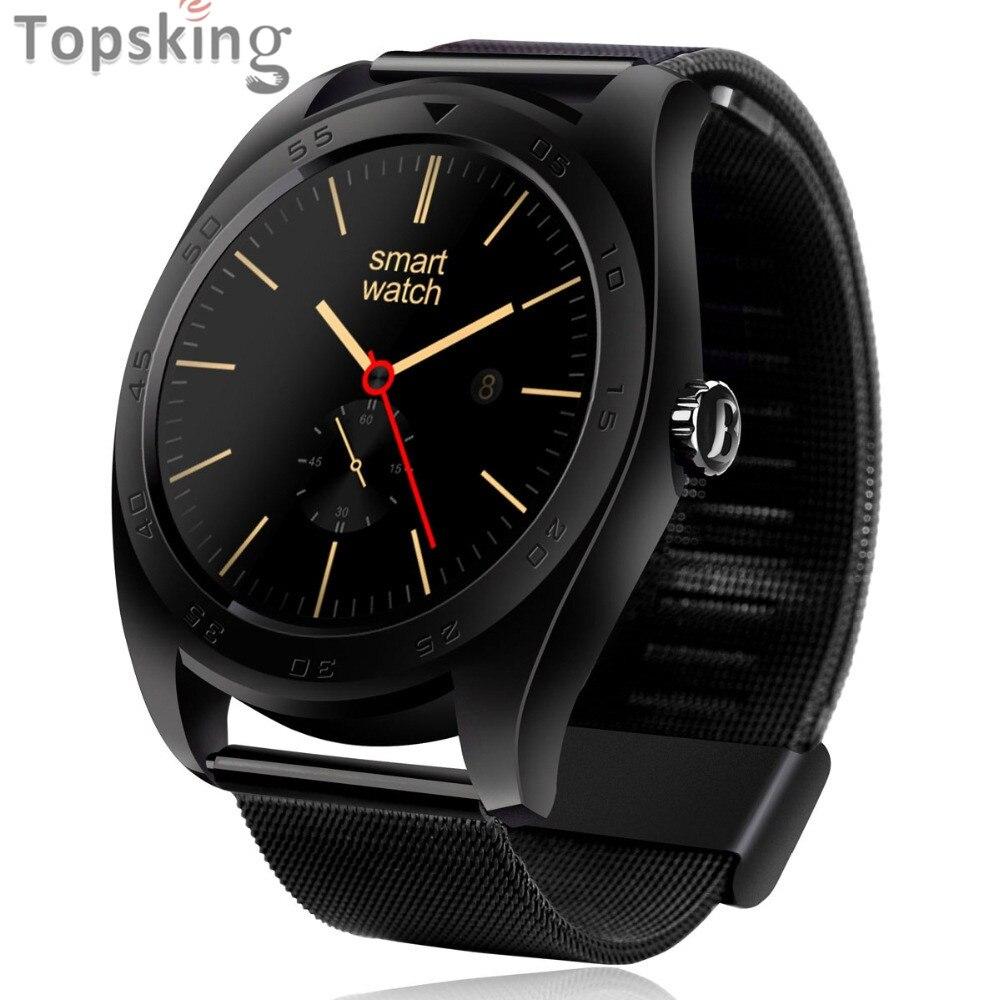 imágenes para 2017 NUEVOS Relojes Inteligentes K89 Bluetooth Ronda Teléfono Smartwatch Para Android y iPhone ISO con Monitor de Ritmo Cardíaco Usable Dispositivos