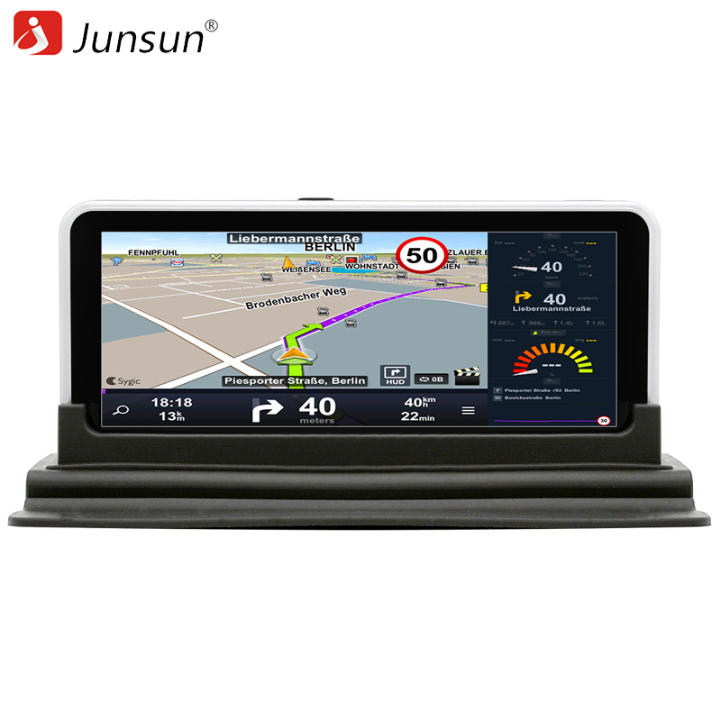 junsun 6 5 inch car dvr rear view gps navigation android 4 4 with dvr camera recorder fm wifi. Black Bedroom Furniture Sets. Home Design Ideas