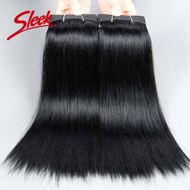 Sleek 8A Brazilian Virgin Hair Weaving Brazilian Straight Human Hair Weaving 2pcs/lot Free Shipping Brazilian Hair Weave Bundles