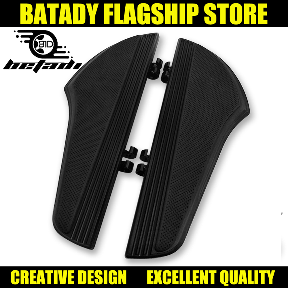 Avant Blackpedal Rust-pied Plancher Giet Harley Touring Road King Tri Street Glide Flhr Flhx 2000-2019 Softail Erfgoed Graiss Goede Smaak