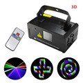 3D Stereoscopic Stage Lighting DMX 400mw RGB Laser Scanner DJ Show Red Green Blue Light Effect Projector Fantastic Disco Beam