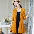 Mujeres suéter y Ropa 2016 nuevo Abrir Stitch cardigans 100% cachemira suéteres Calientes de La Venta camisetas de Cachemira Pura de Punto Tops