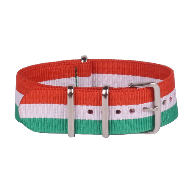 (Buy 2 Get 20% off) 22mm Nato Nylon Watch MultiColor Green/White/Orange fabric Woven watchbands Strap Band Buckle belt promotion
