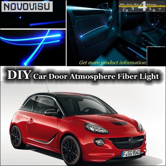 novovisu per opel adam interni luce ambientale tuning. Black Bedroom Furniture Sets. Home Design Ideas