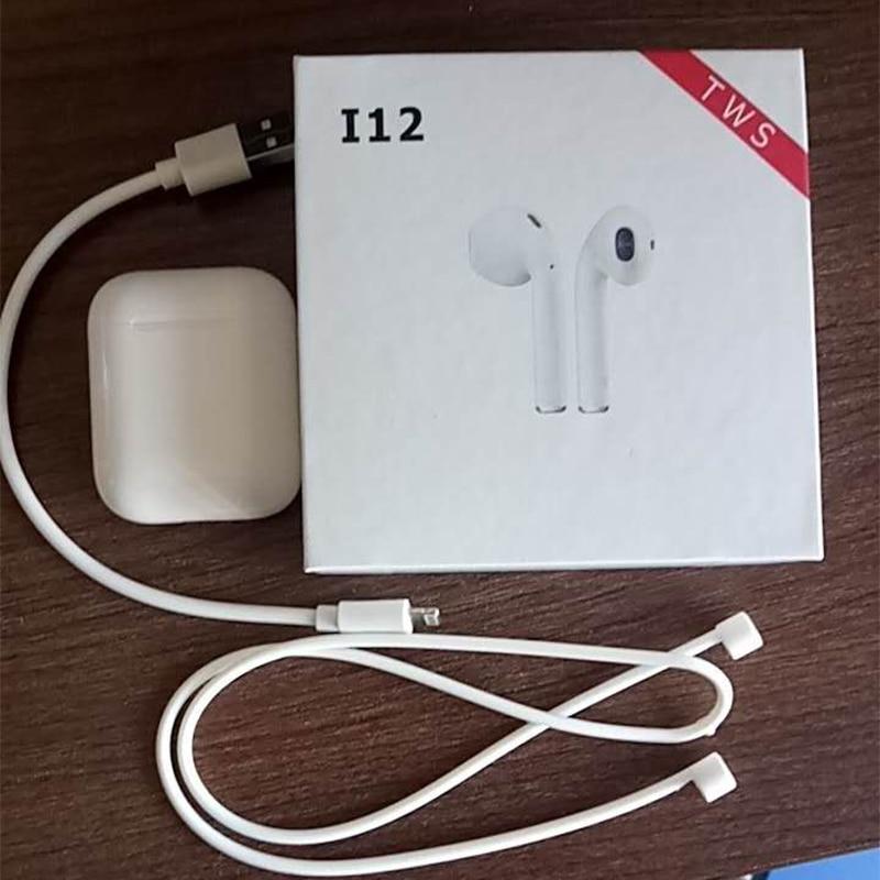 Originale i12 TWS ifans Air pod 1:1 TWS Senza Fili di Bluetooth 5.0 bass stereo Auricolari pk i10 i11 tws per il iphone apple cuscinetti auricolari Xiaomi