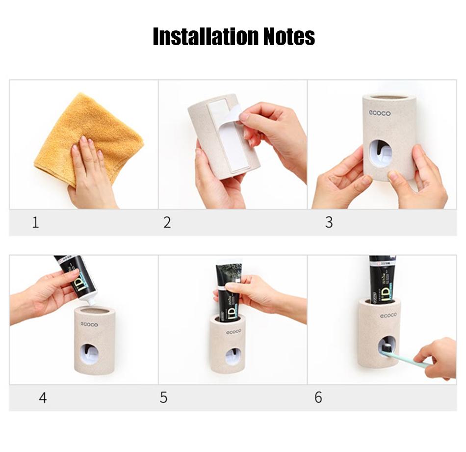 HTB19hwdeRKw3KVjSZFOq6yrDVXat - BAISPO Automatic Toothpaste Dispenser Toothbrush Holder Wall Mount Stand Bathroom Accessories